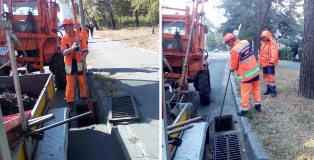 Шляховики продовжують роботи з очищення зливоприймальної мережі району